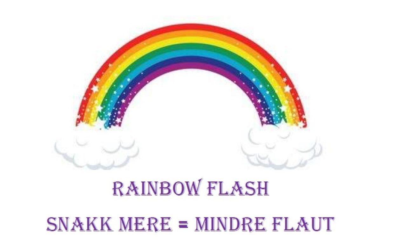 Logo rainbow flash