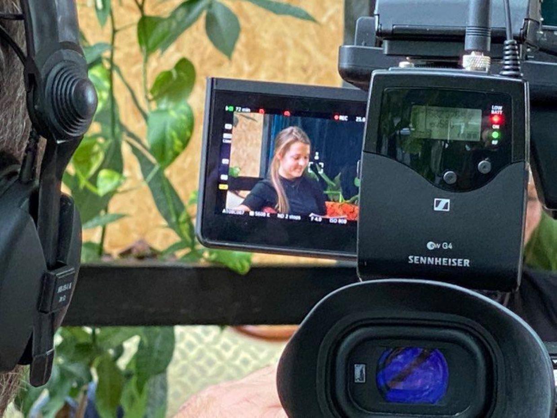 Bilde fra innspilling kamera Kick Off