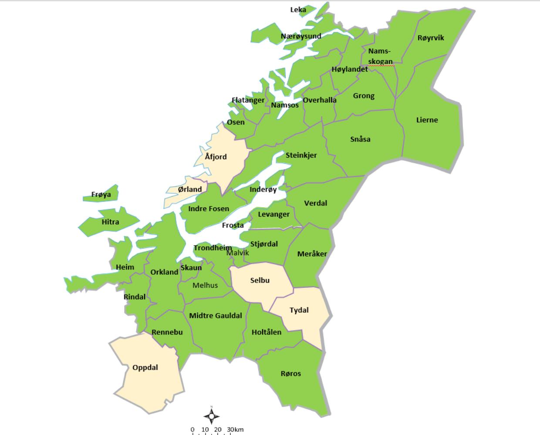Medlemskommuner Trondelag