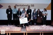 Vinnerne på scenen under Oslomesterskap for studentbedrifter 2019