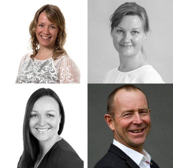 Ingeborg Amundrud, Ellen Thørud, Ida Marie Huse Gulbrandsen og Henning Holmbakken